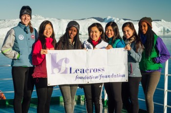 L to R Gabi Foss, Vivian Lee, Christella Igihozo, Christina Cheung, Alice Xu, Lyric Oblin-Moses, Didiane Shenge